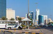 Police Car On The Srtreet Of Manama City, Bahrain Kingdom