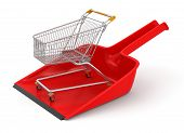 Dustpan and Shopping Cart (clipping path included)