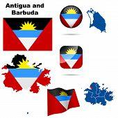 Conjunto de vectores de antigua y Barbuda.