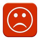 Isolated Button: Unhappy face