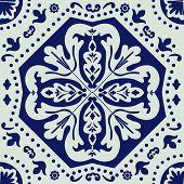 Portuguese azulejo tile