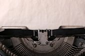 Antique Typewriter. Vintage Typewriter Machine close-up