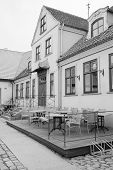 Klaipeda, Lithuania, November, 18, 2014: cafe in Klaipeda, Lithuania