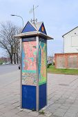 Klaipeda, Lithuania, November, 18, 2014: city map on the street