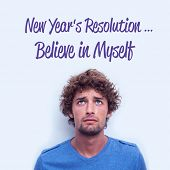 new years resolution against anxious student