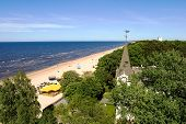 Jurmala beach - view from above
