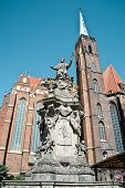 Statue Of John Of Nepomuk In Wroclaw