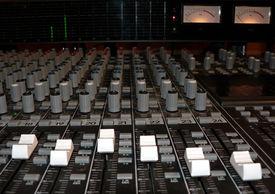 pic of recording studio  - photo of a recording studio mixing console - JPG