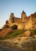 picture of medieval  - Image of a medieval town Carcassonne South France - JPG