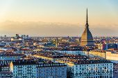 pic of turin  - View of Turin in the evening  - JPG