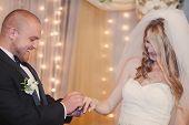 foto of ceremonial clothing  - beautiful wedding ceremony in the Hall organ - JPG