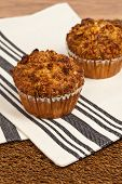 picture of pecan  - Peach Muffins with Buttery Pecan Topping - JPG