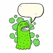 pic of funny ghost  - cartoon funny ghost with speech bubble - JPG