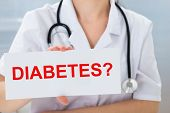 stock photo of diabetes mellitus  - Close - JPG