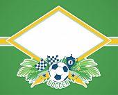 foto of brazilian carnival  - Vector frame with traditional Brazilian football theme - JPG