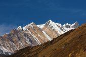 foto of sanskrit  - Annapurna South peack in the Nepal Himalaya  - JPG