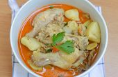 stock photo of curry chicken  - curry chicken soup with vagetable delicious  - JPG