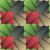 image of conic  - Abstract Geometric Stylized Conic Petals Vector Seamless Pattern Retro Color Scheme - JPG