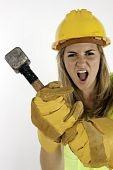 Angry Construction Girl