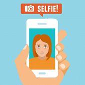 image of selfie  - Vector selfie concept  - JPG