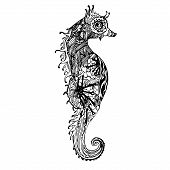 Постер, плакат: Abstract graphic sea horse print