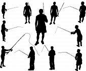 Fishermen silhouettes