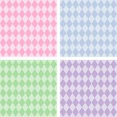 Seamless Harlequin Pattern, Pastels