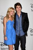 LOS ANGELES - AUGUST 1:  Britt Robertson & Gregg Sulkin arrive(s) at the 2010 ABC Summer Press Tour Party at Beverly Hilton Hotel on August 1, 2010 in Beverly Hills, CA...