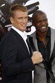 LOS ANGELES - AUGUST 3:  Dolph Lundgren & Terry Crews arrives at