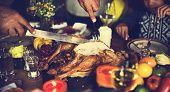 Thanksgiving Celebration Tradition Family Dinner Concept poster