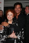 LOS ANGELES - NOV 3:  Arlene Dahl, Lorenzo Lamas arrive at the Hollywood Walk of Fame 50th Anniversa