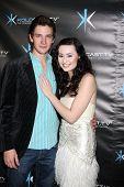 LOS ANGELES - DEC 14:  Michael Christopher Bolten, Jillian Clare attend the
