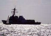 Warships_And_Sailboat