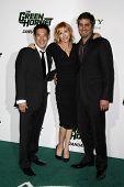LOS ANGELES - JAN 10:  Grant Imahara, Kari Byron, Tory Belleci arrives at the