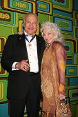 BEVERLY HILLS - JAN 16: Buzz Aldrin; Lois Aldrin arrives at the HBO Golden Globe Party 2011 at Circa