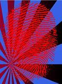Red Fingerprint Fade