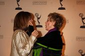LOS ANGELES - JAN 20:  Valerie Harper, Cloris Leachman arrives at the ATASHall of Fame Committe's 20