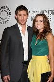 LOS ANGELES - MAR 13:  Jensen Ackles and Danneel Harris Ackles arrive at the