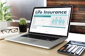 Life Insurance Medical Concept Health Protection Home House Car Life poster