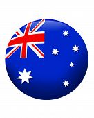 3D Flag Of Australia Button