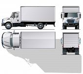 Vector delivery / cargo truck.