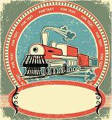 Locomotive Label.vintage Style On Old Texture
