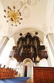 Organ in medieval church