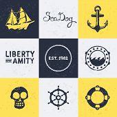 Vintage símbolos náuticos