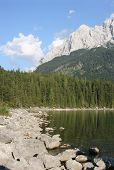 Zugspitz-massif And Lake Eibsee