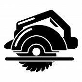 Circular Saw Icon. Simple Illustration Of Circular Saw Icon For Web poster