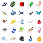 Touring Icons Set. Isometric Set Of 25 Touring Icons For Web Isolated On White Background poster
