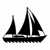 Sailing Ship Icon. Simple Illustration Of Sailing Ship Icon For Web poster