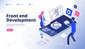 Front End Development. Programmer Develop Computer Website Interface Front-end Graphics Engineering  poster