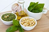 Ingredients For Basil Pesto